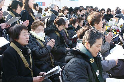 東日本大震災慰霊法要祭(深沼海水浴場)