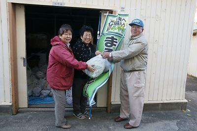 野菜贈呈(JR南小泉仮設住宅)
