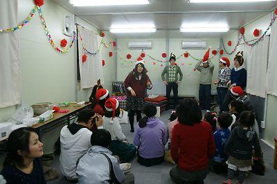 子供クリスマス会(JR南小泉仮設住宅)