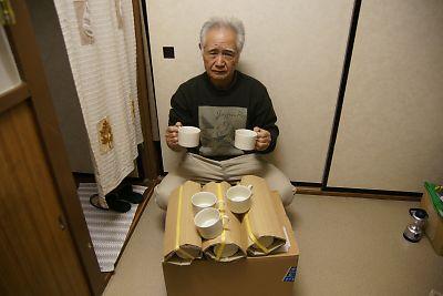 コーヒーカップ支援(JR南小泉仮設住宅)